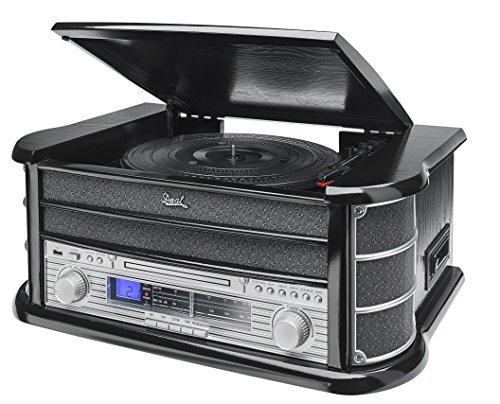 dual stereoanlage mit plattenspieler Dual 75213 NR 4 Nostalgiekompaktanlage Schwarz