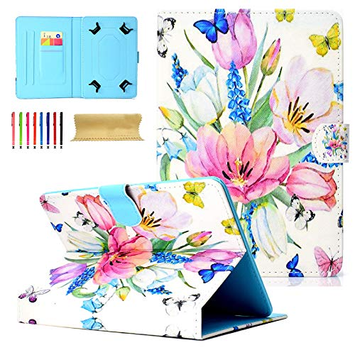 Universal Tablet-Schutzhülle mit Standfunktion für Amazon, Samsung, GoTab, RCA 02 Spring Flower for 7-8 inch Tablet - 8 Tablet Zoll-rca Case