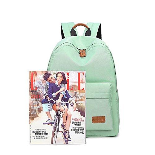 VLike Rücksack Rucksäcke Rucksack Backpack Daypack Schulranzen Schulrucksack Wanderrucksack Schultasche Rucksack für Schülerin Mädchen (Hell Grün) - 9