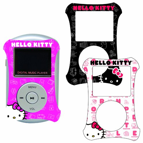 Sakar 50009 - Hello Kitty 2GB MP3-Player mit 3 Planscheiben (Player Kitty Cd Radio Hello)