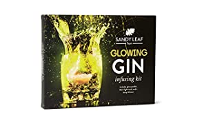 Glowing Gin Infusing Kit - Make a Massive Five Bottles of Your own Glowing Gin - Includes a UV Torch - Amazing Gift for Gin and Cocktail Lovers
