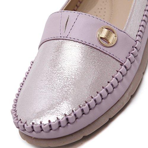 Fortuning's JDS Simple Style Metallic Chaussures plates Casual semelle souple avec cordes Violet