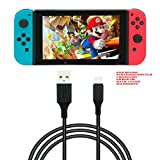 DARAHS Fox Micro USB Type-C to Standard USB Charging Cable for Nintendo Switch Game Pad (1 m , Black)