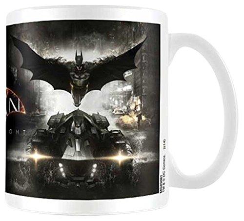 empireposter - Batman  - Arkham Knight - Teaser - Größe (cm), ca. Ø8,5 H9,5cm - Lizenz Tassen, NEU - Beschreibung: - Batman - Keramik Tasse, weiß, bedruckt, Fassungsvermögen 320 ml, offiziell lizenziert, spülmaschinen- und mikrowellenfest -