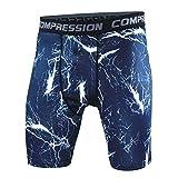 YiJee Deporte Jogging Pantalones Cortos de Compresión para Hombre con Función de Secado Rápido S