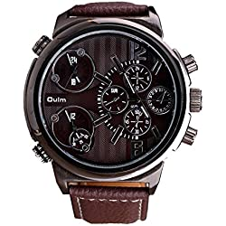 ufengke® elegant triple movement strap calendar calendar wrist watch for men,brown