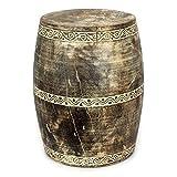 Wuona Objects Holz Hocker Ständer 45 cm - Palmholz Timor - Vasenständer Schemel Stuhl Handarbeit