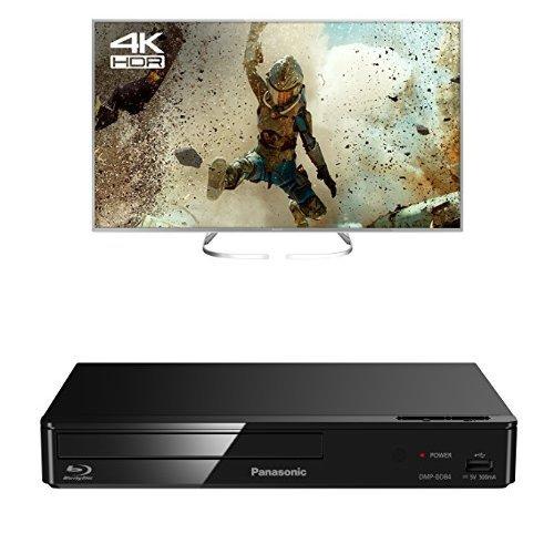 Panasonic TX-58EX700B 58-Inch 4K Ultra HD Smart LED TV with DMP-BD84EB-K Smart Blu-Ray Disc Player Bundle