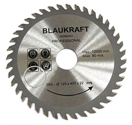 Hoja de sierra para AMOLADORA ANGULAR 125mm para discos de corte de madera Circular 125x22x40T TCT 125mm 5 pulgadas