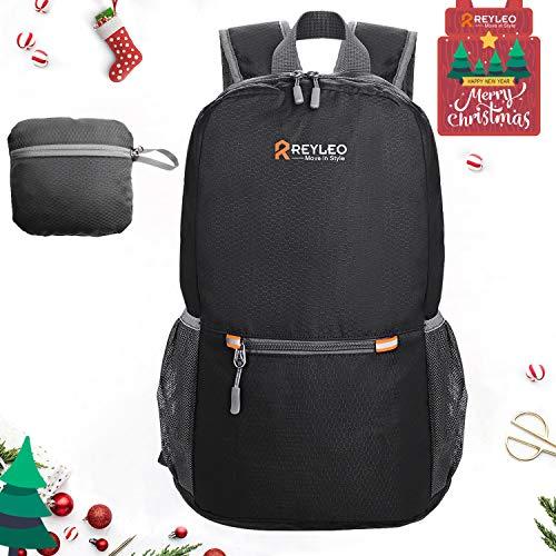 REYLEO Faltbarer Rucksack, Ultraleichter Trekkingrucksack, Outdoor-Daypack wasserabweisend 20L