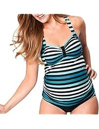 Premamá Mujer Tankini Trajes de baño El embarazo bikini QinMM Maternidad Trajes de baño ...