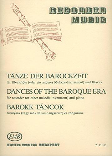 Tanze Der Barockzeit  Flûte a Bec