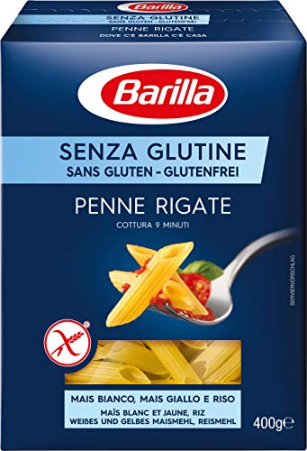Barilla, Pasta sin gluten, Penne rigate , pack de 14 x 400gr (5.6 kg)
