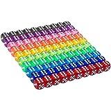 Conjunto de Dados de 6 Caras de Colores Translúcidos de 100 Piezas, 16 mm de Dados de Esquina Redonda para Juegos de Mesa Favores de Fiesta, Regalos de Juguete o Enseñanza de Matemática de Niños