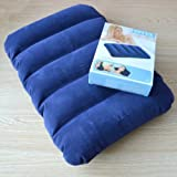 Shoppoworld Intex Soft Velvet Air Pillow (Blue)- Pack of 2