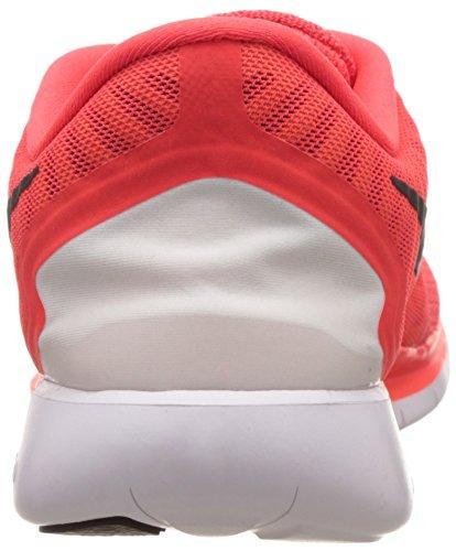 Nike  Free 5.0, Chaussures de Running Compétition homme Rouge - Rot (Bright Crimson/Black-Total Orange-Bright Citrus)