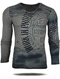 RUSTY NEAL Herren Longsleeve T-Shirt Langarmshirt Hemd Sweatshirt