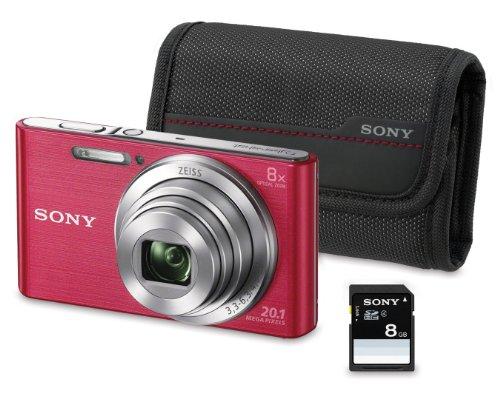 SONY DSC-W830 - CAMARA COMPACTA DE 20 1 MP (PANTALLA DE 2 7  ZOOM OPTICO 8X  ESTABILIZADOR OPTICO)  ROSA - KIT CAMARA + FUNDA + SD 8 GB