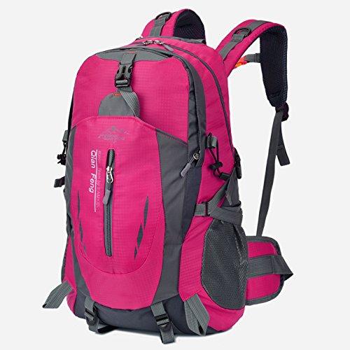 LWJgsa Neue Ultraleicht - Outdoor - Bergsteigen - Taschen Männer Und Frauen Schultern Modestudenten Taschen Computer - Taschen rose red