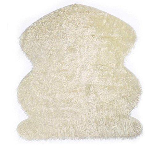 Rovinci Neugeborenes Baby Mädchen Spiel Matratze Teppich Kostüm Foto Kunstfell Schaffell Imitat Wohnzimmer Schlafzimmer Kinderzimmer Als Faux Bett-Vorleger oder Matte für Stuhl Sofa (Beige)