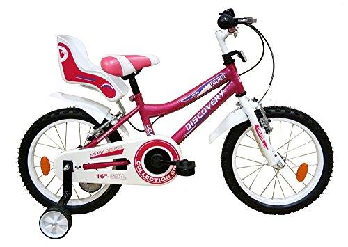 """Discovery 16"""" Niña Bicicleta, Niñas, Fucsia, Talla Única"""