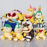 AYQX 7 Piezas Super Mario Bros Koopa Peluches Muñecas Wendy / Larry / Iggy / Ludwig / Roy / Morton / Lemmy O.Koopa Peluche