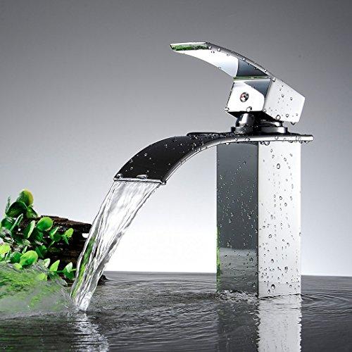 Ancheer Design Einhebel Wasserhahn Waschtischarmatur Wasserfall - 3