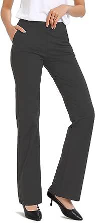 Safort 71cm/ 76cm/ 81cm/86cm Cicitura Interna Normale/Alti Pantaloni Yoga Svasati, 4 Tasche, Stivale Lungo, Pantaloni a Zampa d'Elefante