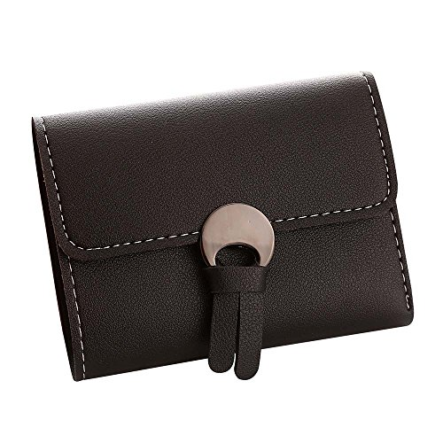 ESAILQ Femmes Simple court Wallet Moraillon Porte-monnaie carte de sac à main titulaires