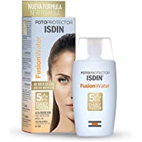ISDIN Fotoprotector Fusion Water SPF50, 50 ml I Sunscreen for face I water-based I oil-free I sensitive skin I paraben…