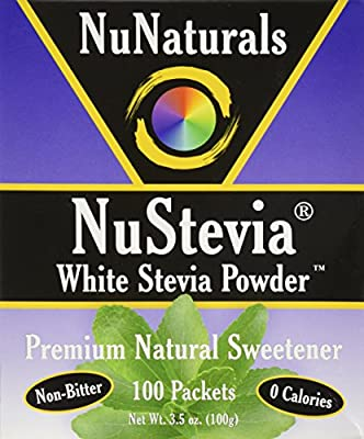 NuStevia White Stevia Powder 100 Packets from NuNaturals