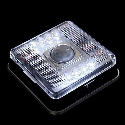Lixada 8 LED luz de la lámpara PIR del sensor auto detector de movimiento