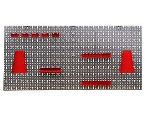 Ondis24 - Etabli Servante d'Atelier (garage, hangar) - Panneau avec trous et crochets en métal pour outils