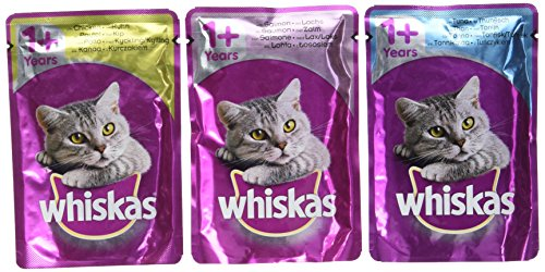 Product Image of Whiskas Wet Cat Food Pouch for 1+ Adult, Mixed Selection