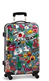 Reisekoffer L Trolley Patches Bunt 67x43x25cm Bowatex