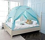 besten Floorless Intérieur Tente de confidentialité sur lit pour Dormir à l'intérieur Chaud et Confortable Salle de. Full/Queen Blue Mint(CP)