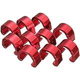 C - clips hebillas - TOOGOO(R)10pcs C-Clip Tubos Chasquido Freno Manguera Guia Bici MTB BMX Color:Rojo