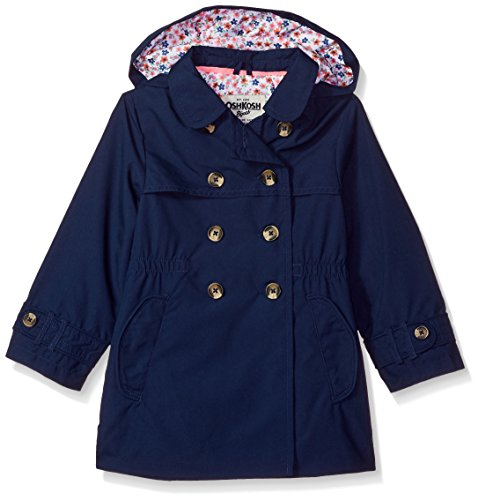 OshKosh B'Gosh Girls' Hooded Trench Coat, -