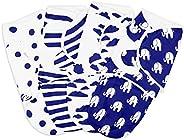 بطانية بتصميم قماط، طقم لف بتصميم قماط للرضع قابل للتعديل من 4 قطع، بطانيات لف للاطفال للاولاد والبنات مصنوعة