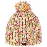 Lipodo Multicolour Bommelmütze Damenmütze Kindermütze Strickmütze Pudelmütze Beanie für Damen Kinder Oversize Winter (One Size - bunt)