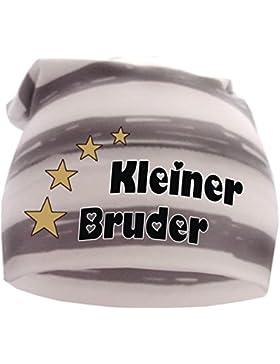 gestreifte Baby,- und Kinder Beanie Sommer Farben / Kleiner Bruder / in 10 Designs / KU 35 - 57