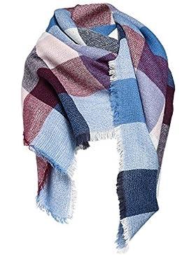 Mujer bufanda XXL Oversized rectangular Patchwork Otoño bufanda suave bufanda bufanda invierno cuadros-Poncho