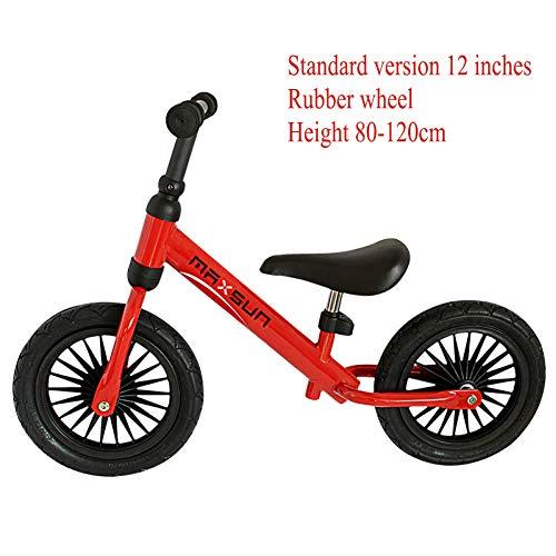 """CHRISTMAD Balance Bikes Scooter Baby Walker Verstellbarer Kindersitz Mit Einer Kapazität Von 50 Kg Scooter Kein Fußpedal Fahrendes Fahrrad-Geschenk Für Kinder 2-Rad Für 2-5 Jahre,12""""-G"""