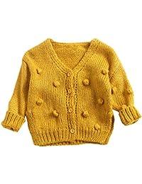☺HWTOP Pullover Strickjacken für Baby Kinder Junge Mädchen, Pullovermantel Cardigan Eleganten, Strickpullover Locker, Strickmantel, Langarmshirt Bluse, Jacke Herbst Pulli Tops