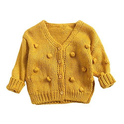feiXIANG Baby Kinder Strickjacke Mantel Mädchen Jacke Kinder Strickoberteile Pullover Winter Langarm Outwear -