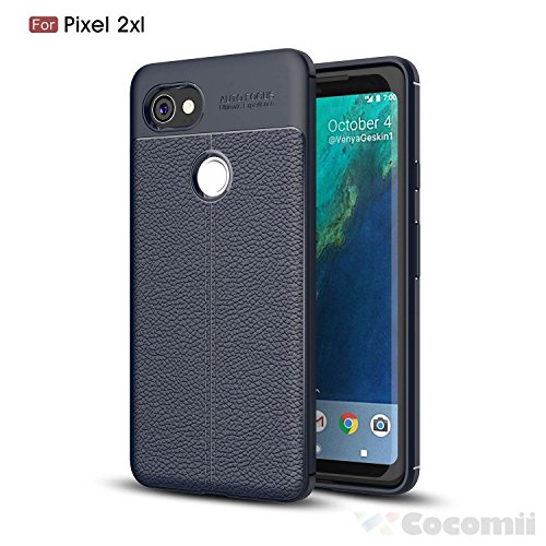 Google pixel 2 xl custodia, cocomii ultimate armor new [heavy duty] premium leather pattern slim fit shockproof hard bumper shell [military defender] full body dual layer rugged cover case paraurti (deep blue)