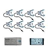 Milano Cree LED-Terrassenbeleuchtung Einbaustrahler Set 8 x 3 Watt Somfy IO