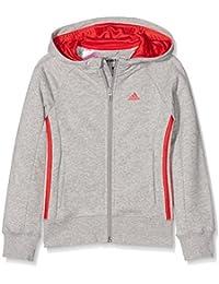 adidas Mädchen Essentials Mid 3-Stripes Kapuzenjacke