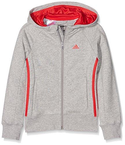 adidas-mdchen-essentials-mid-3-stripes-kapuzenjacke-medium-grey-heather-ray-red-164