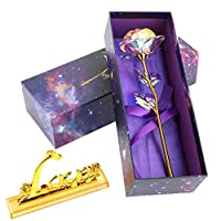 Tobey Trevelyan fabulous Galaxy Rose Flower Romantic Crystal Rose With Box Hot(None Love base in a gift box)